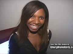 Hot ebony babe Caren at the gloryhole with Dirty D