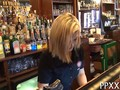 Blonde barmaid from Europe persuaded by public agent