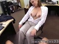 Big tits MILF flashes and sucks off pawn man