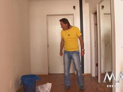 Tiny German teen does her old landlord