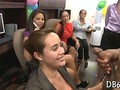CFNM office ladies sucking off a black stripper