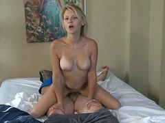 Horny Teen Daughter Wakes Up Sleeping Dad In
