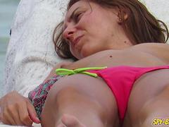 Sexy Bikini Topless Teen Amateur Voyeur Beach Video