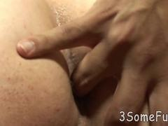 mind-blowing all-male oral threesome orgy at home film