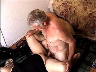 old man with a hard cock fucks his horny babe so well