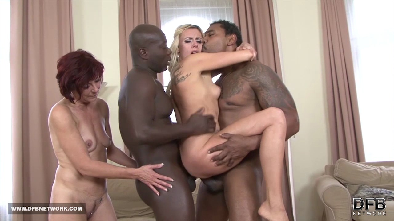 Ebony group sex porn