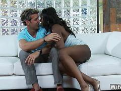 Mature Black Wife gets first White Cock