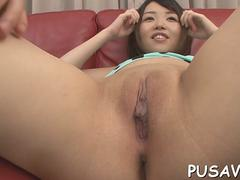 Short haired Asian cutie needs some hardcore fucking