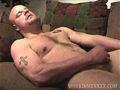 Gay hunk with small dick is ready for some good jerking off