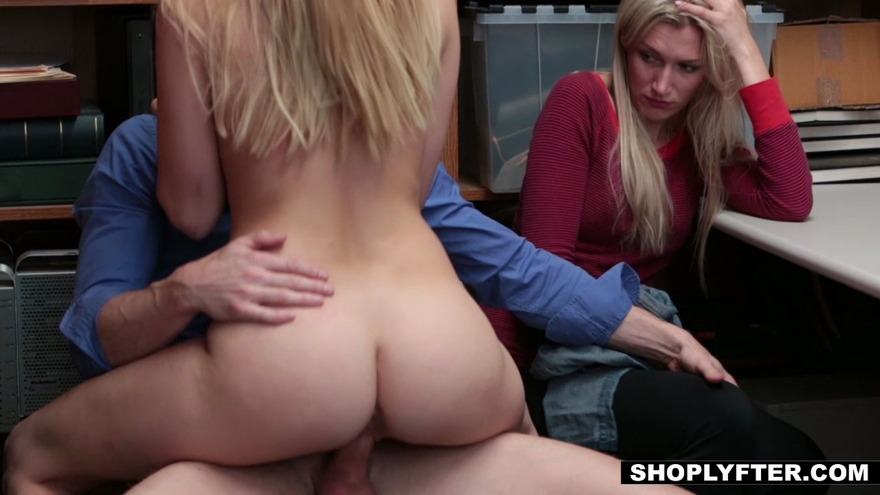Shoplyfter mom and daughter caught and fucked for stealing 4