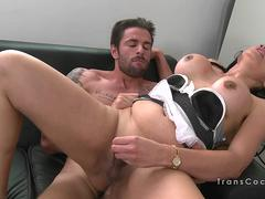Dude anal bangs tranny maid from agency