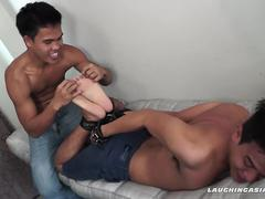 Twink Asian Boy Warren Tied and Tickled