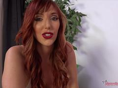 Busty Redhead Lauren Phillips Sucks Cock