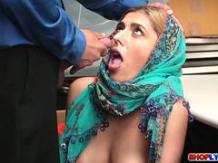 Arab thief Audrey gets a hot hardcore sex
