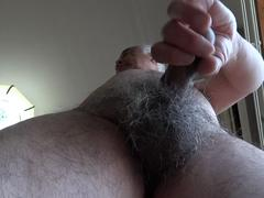 Japanese old man erect cock exposure