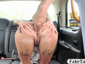 Huge juggs amateur analyzed in the cab to off her fare
