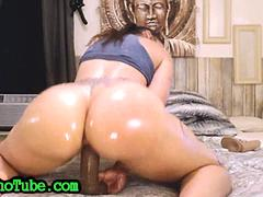 Big Oily Ass Amazing Dildo Riding