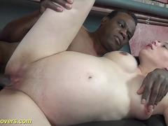 kinky bruentte could really suck on that hard cock and then to get it between her legs by her lover in public