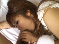 Subtitled uncensored Japanese gyaru anal foreplay blowjob
