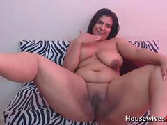 BBW latina cougar with big ass fingering her fat pussy