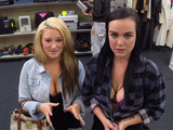 Two girls pawn their pussies in a pawn shop