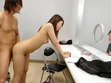 Elegant Japanese chick moans while being dicked hard