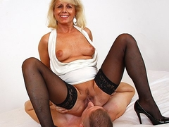 Sexy stockings legs of alluring milf Koko and facesitting