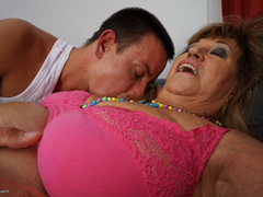 Hot stud undressing and banging a grandma