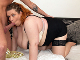 Chubby mature lady gets nailed by a young stud