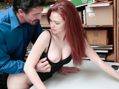 Shoplyfter - Teen Stripped Down and Fucked by Creepy Guy