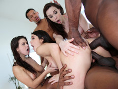 Jacuzzi Party Turns Interracial Orgy - Chanel Preston, Valentina Nappi, Keisha Grey