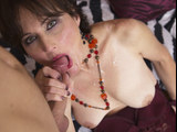Granny slut seduced and fucked a handsome younger fellow