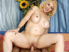 Busty blonde milf desires this huge cock inside her