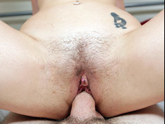 Redhead pornstar gets rammed in this POV session